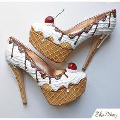 παπούτσια διακοσμημένα με τη μορφή του παγωτού
