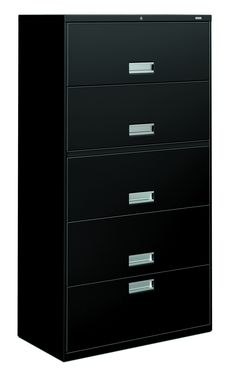 "HON Brigade 600 Series Lateral File - 1 Drawer & 4 Roll-Out Shelves - 36"" Wide Home Office Filing Cabinet, Filing Cabinets, Roll Out Shelves, Lateral File, Drawers, Storage, Furniture, Products, Home Decor"
