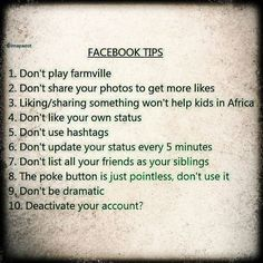 Facebook Tips for Annoying People