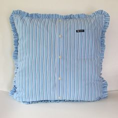 Custom Memory Pillow With Ruffle Made from Button by MaidenJane
