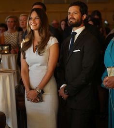 Prince Carl Philip and Princess Sofia at a charity gala dinner... August 29, 2015