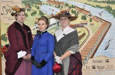 Museum staff dressed in their finest at the Lansdowne Park grand opening on Saturday, August 16th, 2014.