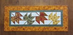 Autumn Harvest Fall Pieced Leaf Table Runner  by QuiltingGranny