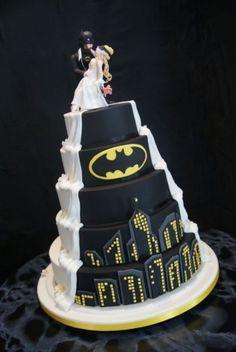 Batman Wedding Cake- bolo do meu casamento wedding themes Batman Wedding Cake Batman Wedding Cakes, Batman Cakes, Batman Grooms Cake, Geek Wedding, Dream Wedding, Wedding Vows, Wedding Dresses, Camo Wedding, Blue Wedding