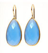chalcedony tear drop earrings