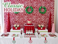 classic holiday christmas party printables-Christmas in July sale