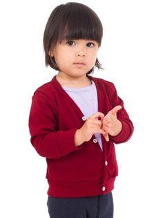 American Apparel Infant Solid Rib Cardigan