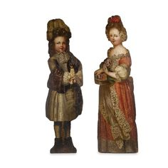 A Pair of English Painted wood Dummy Boards<br><P>first half 18th century</P>   Lot   Sotheby's