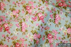Roses floral 100% cotton fabric