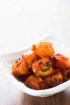 One of our favorite types of kimchi! Spicy Radish Kimchi: Kkakdugi