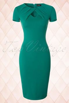 Roxanne Pencil Dress in Jade Jade Green Dress, Green Dress Outfit, Dress Outfits, Casual Dresses, Fashion Dresses, Dresses For Work, Girl Fashion, Classy Outfits, Stylish Outfits