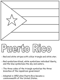 puerto rico flag coloring page - 1000 images about puerto rico on pinterest puerto rico