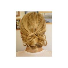 Updo Hair Styles For Wedding For Medium Hair found on Polyvore.     I like this but higher up on my head