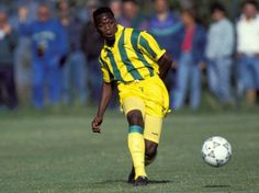 Claude Makalele of F. Nantes in Fc Nantes, Football, 1990s, Soccer, Futbol, American Football, Soccer Ball