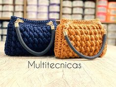 Crochet Clutch Pattern, Crochet Patterns, Crochet Handles, Crochet Bag Tutorials, Jean Purses, Yarn Bag, Handmade Leather Wallet, Purse Patterns, Denim Bag