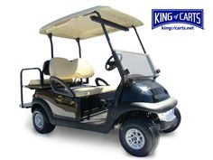 Classic black 4 seat golf cart from www.kingofcarts.net