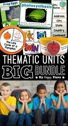 15 thematic units with PowerPoint presentations and activities to use throughout the school year in kindergarten and first grade! Kindergarten Social Studies, Kindergarten Science, Apple Unit, Powerpoint Presentations, American Symbols, Thematic Units, Beginning Of The School Year, Science Lessons, Anchor Charts