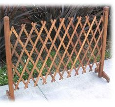 Expanding Portable Fence Wooden Screen Pet Gate Kid Safety Dog Lawn Patio Garden for sale online Portable Fence, Home Fencing, Pallet Fencing, Outdoor Gardens, Indoor Outdoor, Outdoor Living, Outdoor Stuff, Outdoor Spaces, New England Arbors