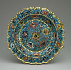 Dish with scalloped rim, Ming dynasty, early 15th century  China  Cloisonné