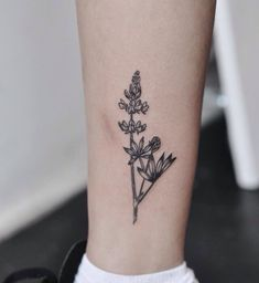 Wildflower black and gray tattoo