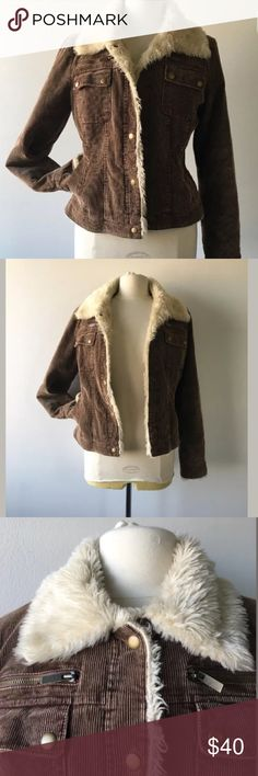 90s Corduroy Jacket This jacket takes you back to the 90s when everything was cool. It has snap button closures. A faux shearling collar and cozy pockets to rest your hands. This jacket is a great fall fashion choice. Feel free to message with any questions! :) Vintage  Jackets & Coats