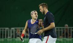 Mattek Sands & Sock at the Olympic Tennis Event - Rio 2016 #bethaniematteksands #jacksock #2016Olympics #olympics2016 #olympictennis