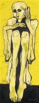 Niño en amarillos By Oswaldo Guayasamín ,1960