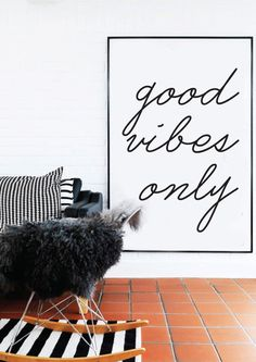 Good Vibes Only - Black and White - Inspiring Typography Print - Quotes Typography Prints, Typography Poster, Quote Prints, Nursery Neutral, Messages, Good Vibes Only, Apartment Living, Dream Apartment, New Room