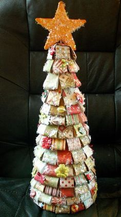Paper Christmas Tree **GS Christmas Challenge** - Two Peas in a Bucket