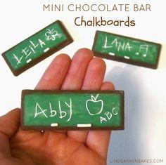 Mini chocolate chalkboards