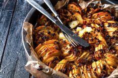 Croustillant de pommes de terre rôties à l'ail et au thym
