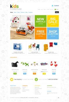Jigoshop Website Template We love Webdesign, Wordpress and SEO. Web Design Gallery, Web Design Trends, Website Design Inspiration, Web Layout, Layout Design, Banner Design, Website Header Design, Kids Web, Ecommerce Template