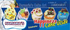 Happinezz Cake Utsav it is an elite live show occasion structured by Narsaria's every year. Where professional staffs of Narsaria's   explains  the process of cake making and the cake ornamentation to their customers.