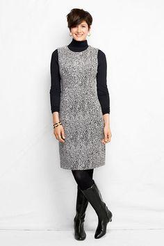 Women's Jacquard Welt Pocket Sheath Dress from Lands' End