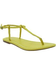 Inexpensive yellow shoes. Women's T-Strap Sandals   Old Navy