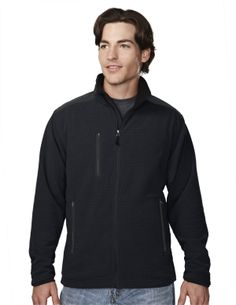 Men's Knit Fleece Jacket (100% Polyester). Tri mountain 7635 #Jacket #Polyester #casualwear #black