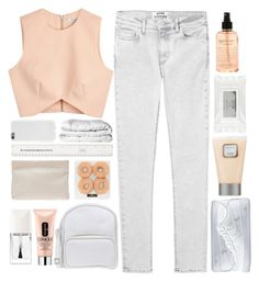 """""""♡; intoxicated with madness, i'm in love with my sadness"""" by xo-ashlyn-ox on Polyvore featuring Acne Studios, Finders Keepers, NIKE, Laura Mercier, Stila, philosophy, Jil Sander Navy, Brinkhaus, Clinique and Christian Dior"""