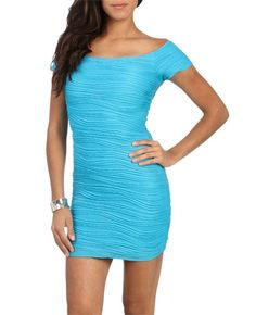 Ballerina Neckline Bodycon Dress from WetSeal.com