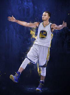 LeBron James vs Stephen Curry Illustration