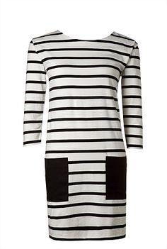Trenery Stripe Jersey Dress