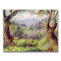 Landscape at Les Collettes 1910 Canvas Art - Pierre-Auguste Renoir x Oil On Canvas, Canvas Wall Art, Canvas Prints, Art Prints, Big Canvas, Pierre Auguste Renoir, Jean Renoir, Monet, Renoir Paintings