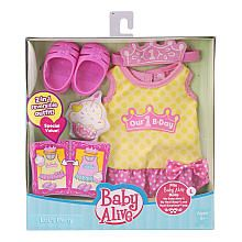 Baby Alive Reversible Outfit - Let's Party - Large