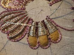 Goldwork embroidery-creating raised areas with felt patches