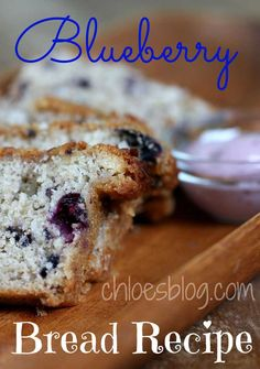 Easy blueberry Bread recipe uses fresh berries and has Blackberry cream Cheese Spread - Yummy |