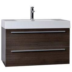 "35.5"" Wall-Mount Contemporary Bathroom Vanity (free shipping)"