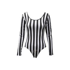 Womens Ladies Monochrome Vertical Stripe Leotard Bodysuit Black White 6 8 10 12: Free UK Shipping and 30-Day Returns on Selected Fashion Items sold or fulfille…