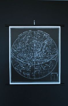 xoxoxxox  I love this shop!    Constellation Chart Signed by AGC916 on Etsy, $98.00