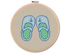 Baby's Shoes   Counted Cross stitch Pattern PDF by KHANNAandILAN