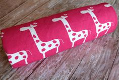 Girl Baby Blanket  Gisella Candy Pink Giraffes by Saravadesigns, $40.00