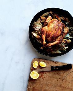 Skillet Roast Chicken with Fennel, Parsnips, and Scallions Recipe - Bon Appétit